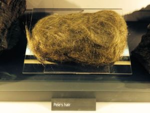 Having grown up in Hawaii, I had to see the volcanoes exhibit at the Natural History Museum. An impressive specimen of Pele's hair.